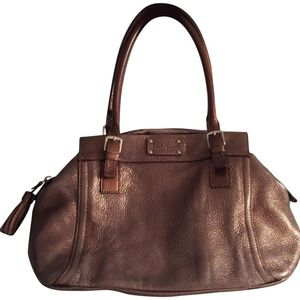 KATE SPADE Bronze Leather Tote Bag
